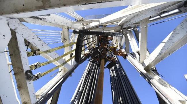 Fracking rig near Weld County