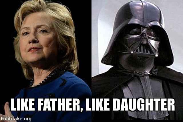Hillary like father, like daughter